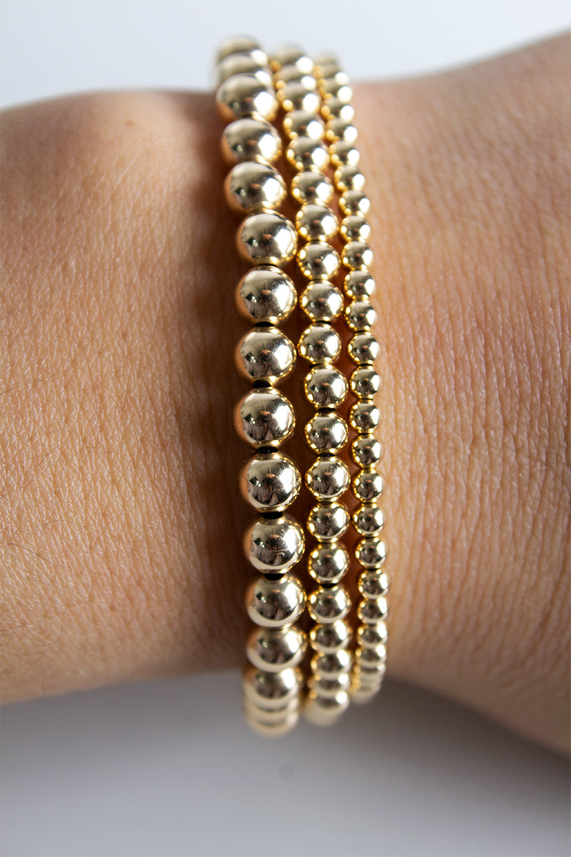 Big Bead Gold Stretch Bracelet - Pavilion