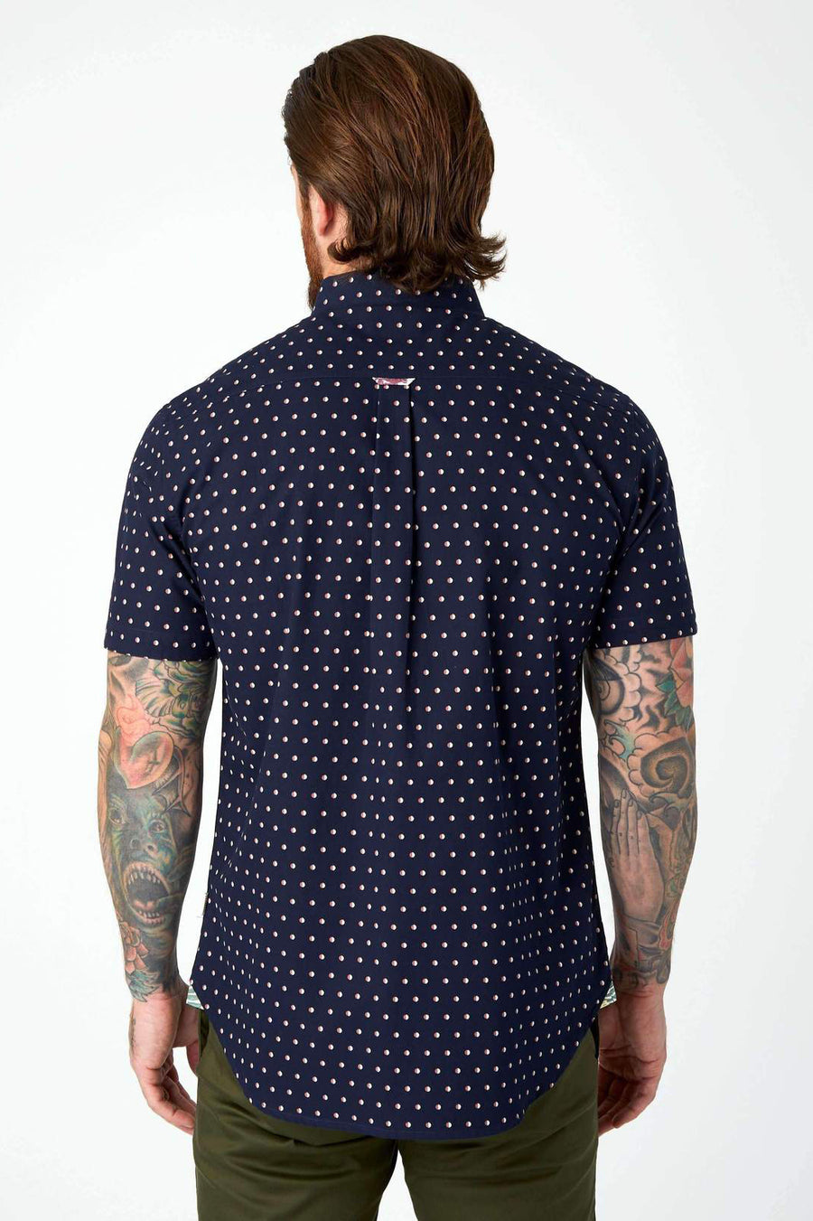 Moon Hop Short Sleeve Shirt - Navy