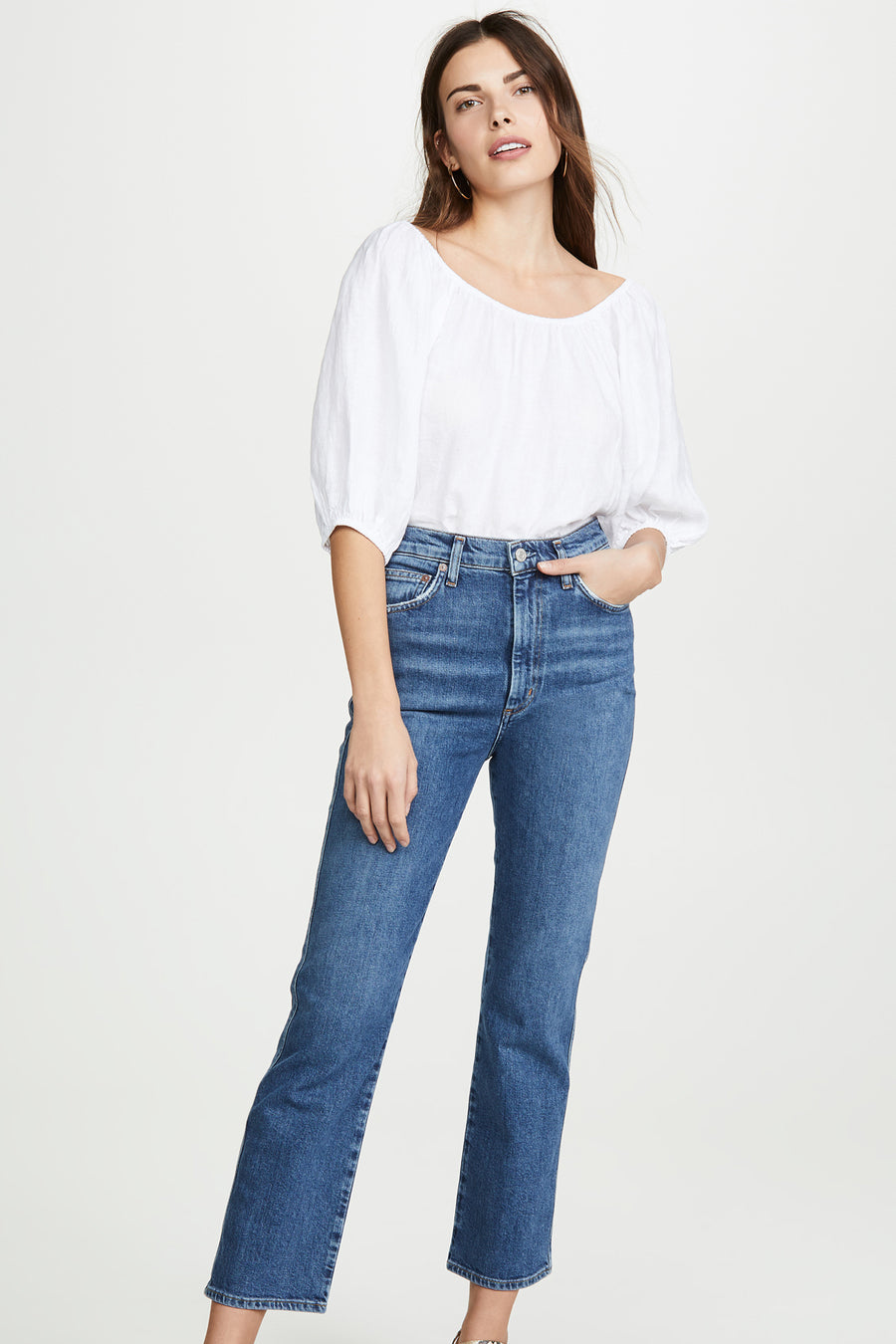 Pinch Waist High Rise Kick Jeans - Subdued - Pavilion