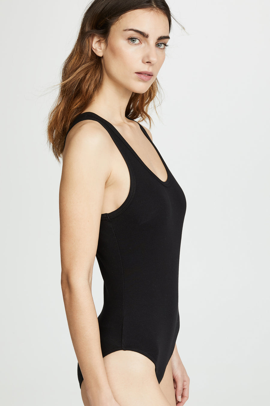 Rib Tank Body Suit - Black