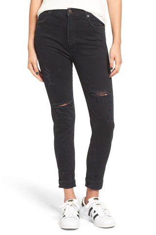 Sophie Crop High Rise Skinny - Jet