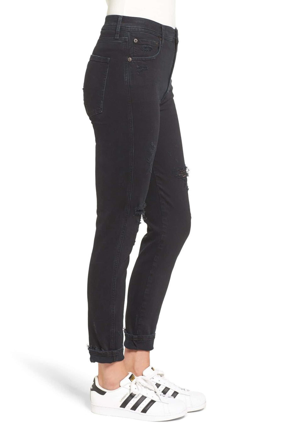 Roxanne Super High Rise Skinny - Princeton Destruct