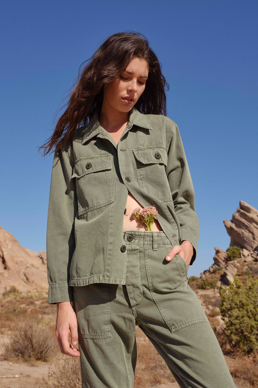 Army Shirt Jacket - Army Green