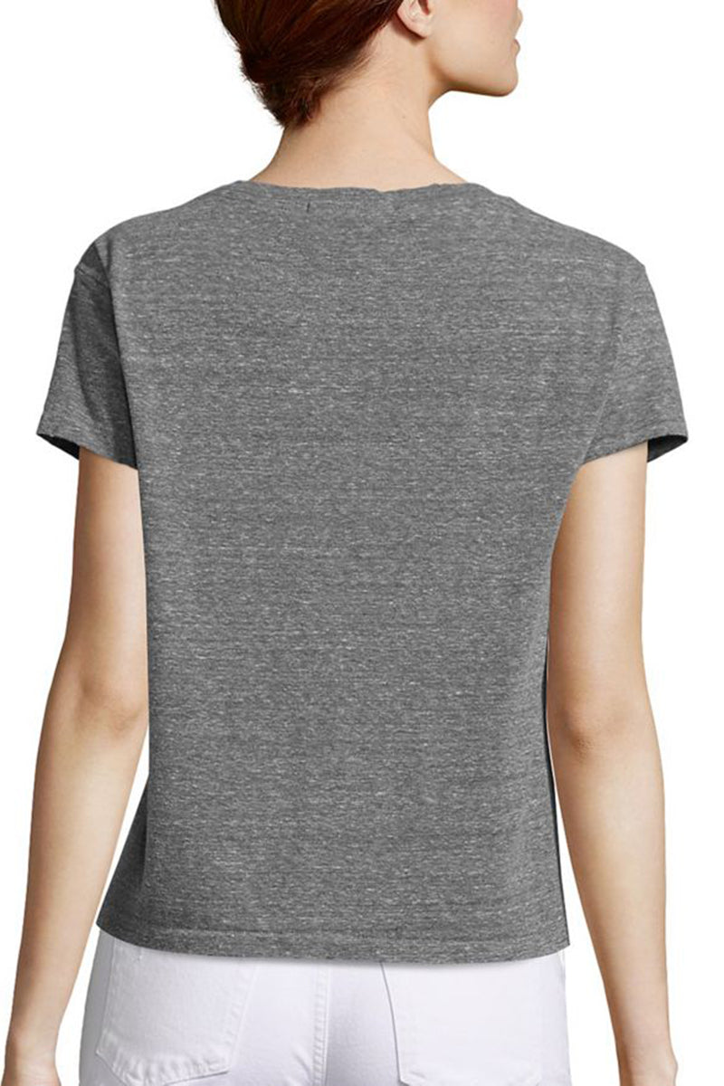 Twist Tee - Heather Grey