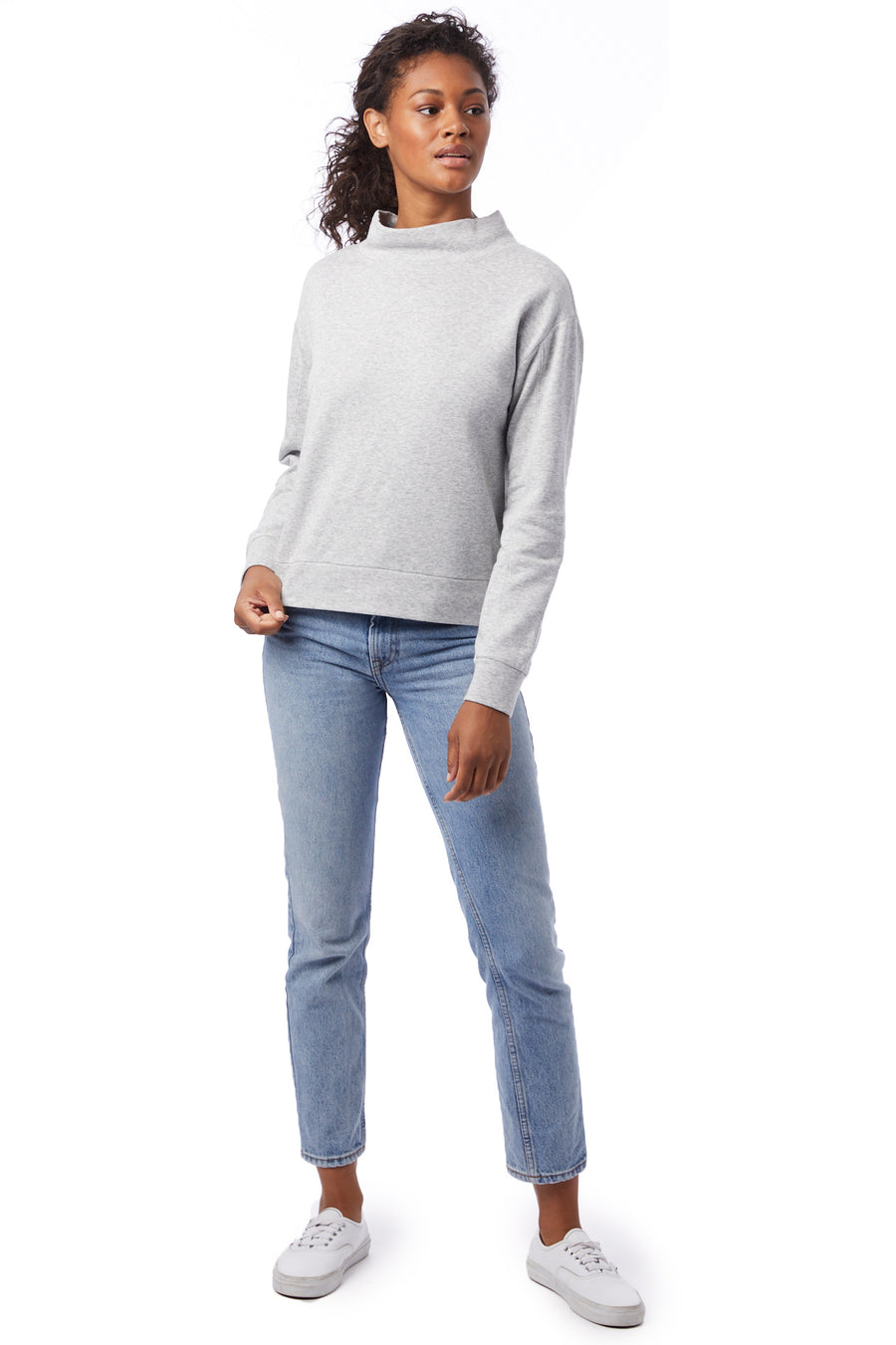 Mock Turtleneck Pullover - Heather Grey - Pavilion