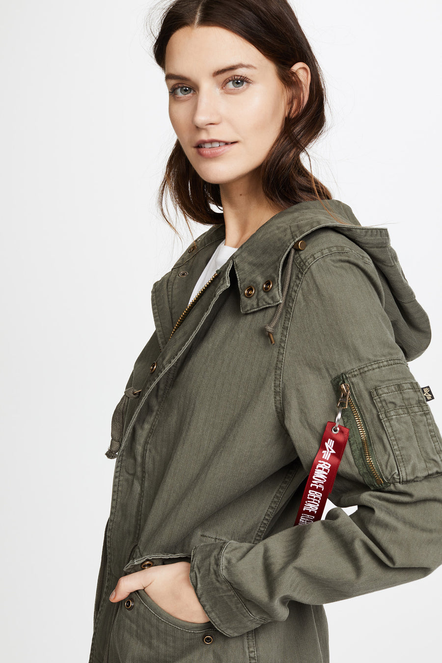Swoop Fishtail Field Coat - Olive