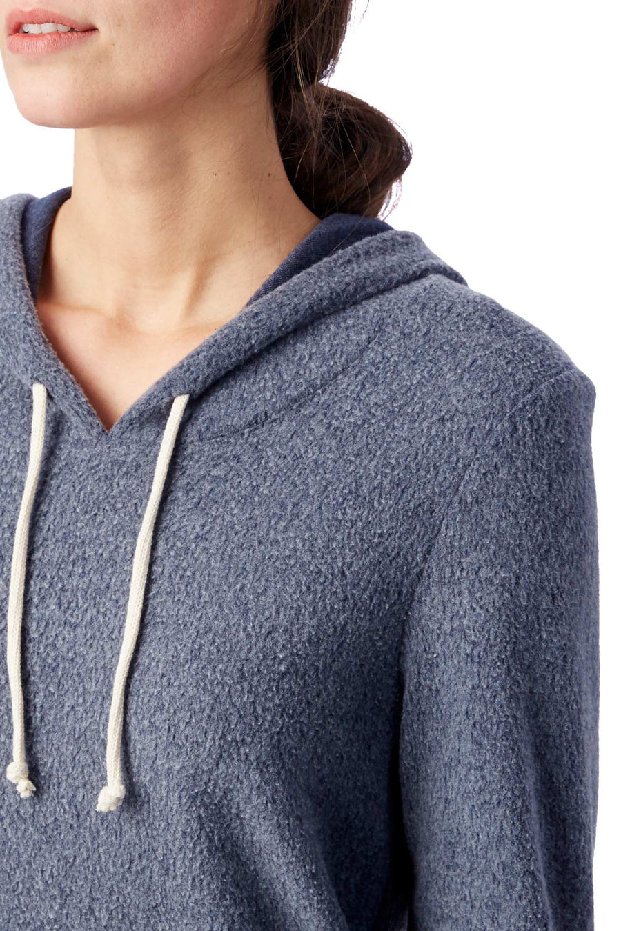 Athletics Eco Teddy Hoodie -  Eco True Navy