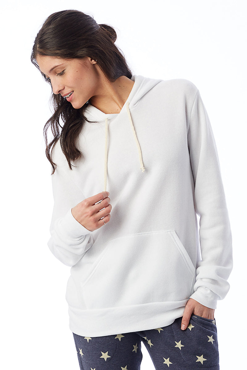 Challenger Eco-Fleece Pullover Hoodie - Eco White