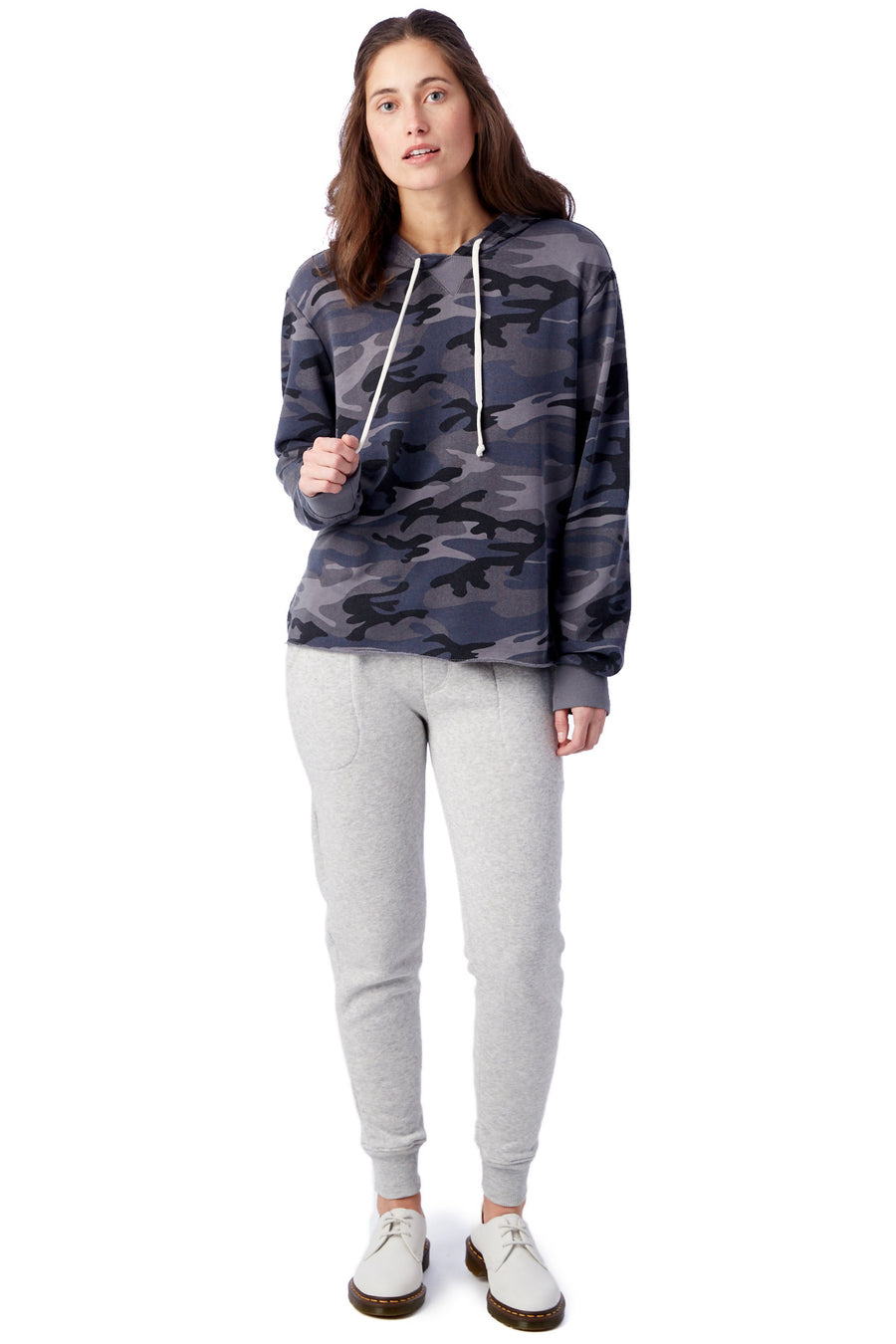 Day Off Burnout French Terry Hoodie - Slate Camo - Pavilion