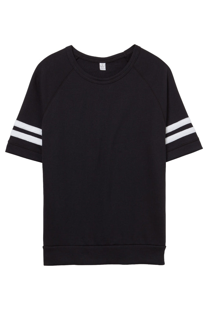 Fifty Yardliner Vintage French Terry T-Shirt - Black/White