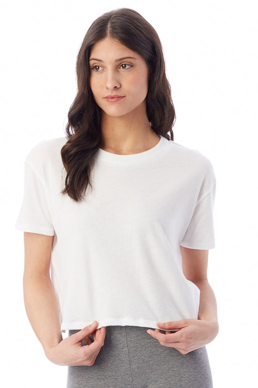 Headliner Cropped T-Shirt - White - Pavilion