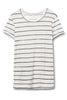 Ideal Printed Eco-Jersey T-Shirt - Eco Ivory Ink Stripe