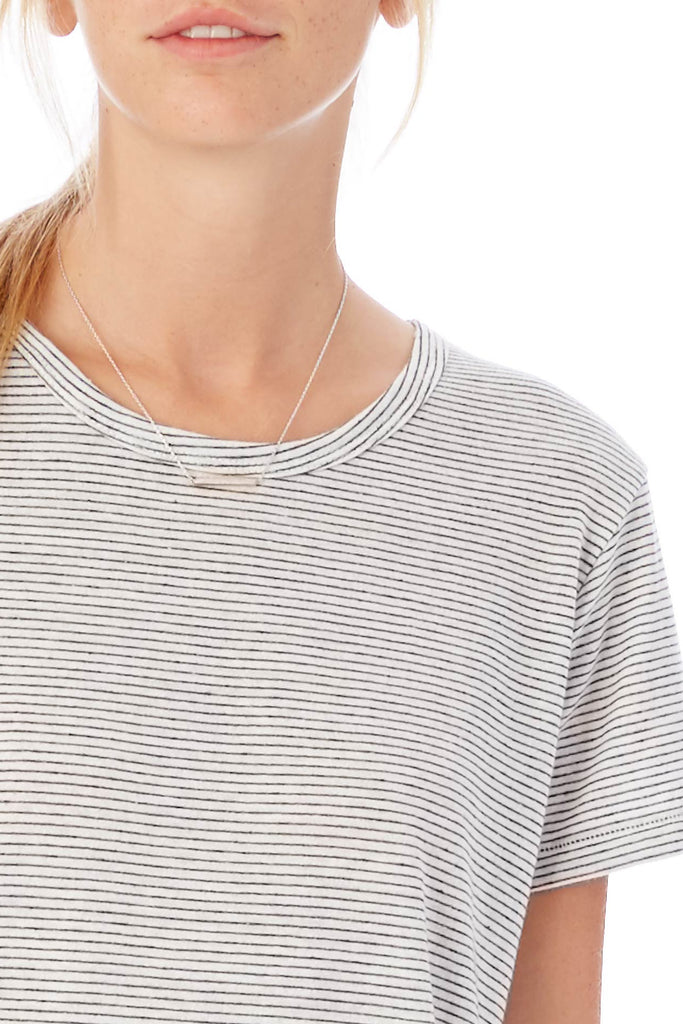 Ideal Striped Eco-Jersey T-Shirt - Eco Ivory Seaside Stripes - Pavilion
