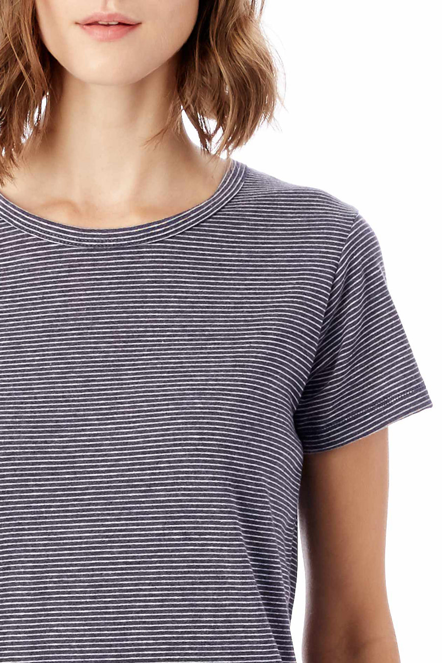 Ideal Striped Eco-Jersey T-Shirt - Midnight Seaside Stripe