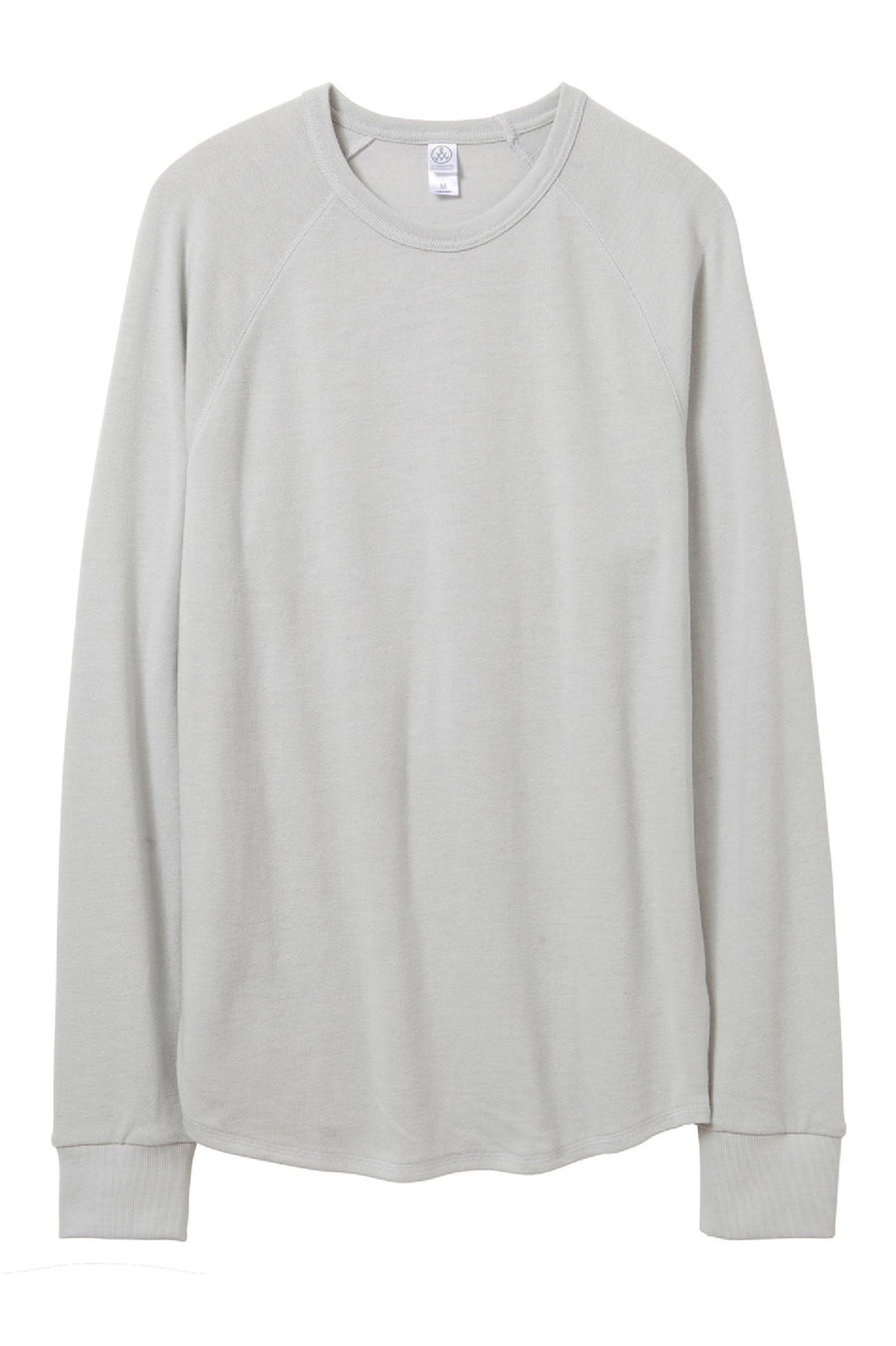 Kickback Vintage Heavy Knit Pullover Sweatshirt - Light Grey