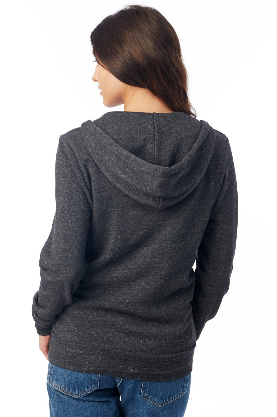 Unisex Rocky Eco-Fleece Zip Hoodie - Eco Black - Pavilion