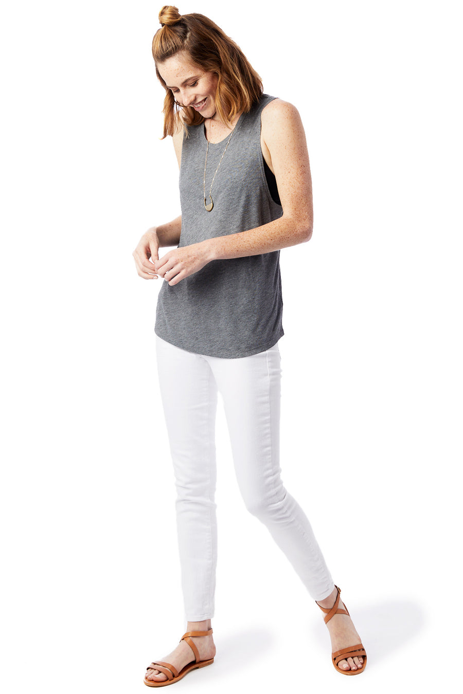Slinky Muscle Tank - Ash Heather - Pavilion