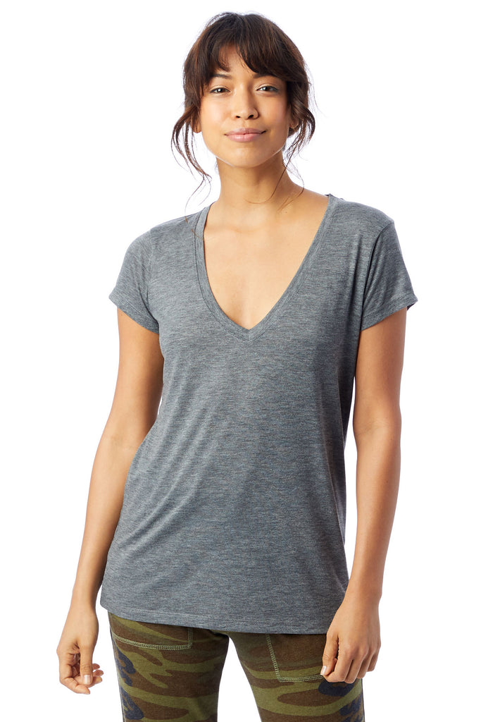 Slinky V-Neck - Ash Heather