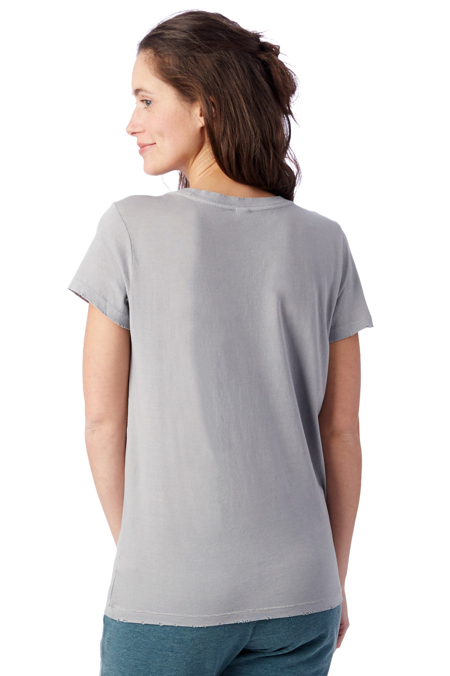 Vintage Garment Dyed Distressed T-Shirt - Grey Pigment - Pavilion