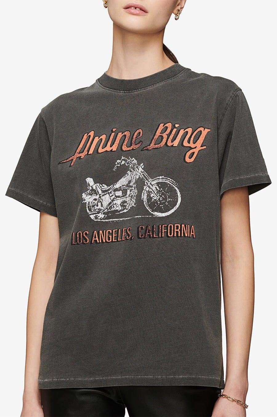 Lili Gun Powder Motorcycle Tee - Charcoal