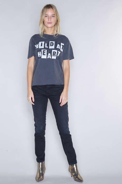Wild At Heart Tee - Washed Black - Pavilion