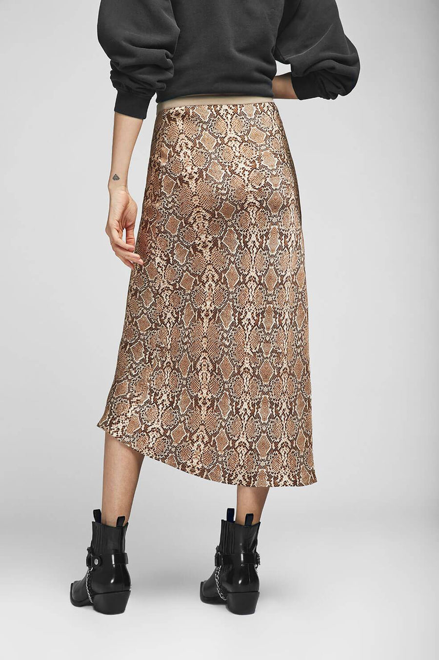 Bar Silk Skirt - Python - Pavilion
