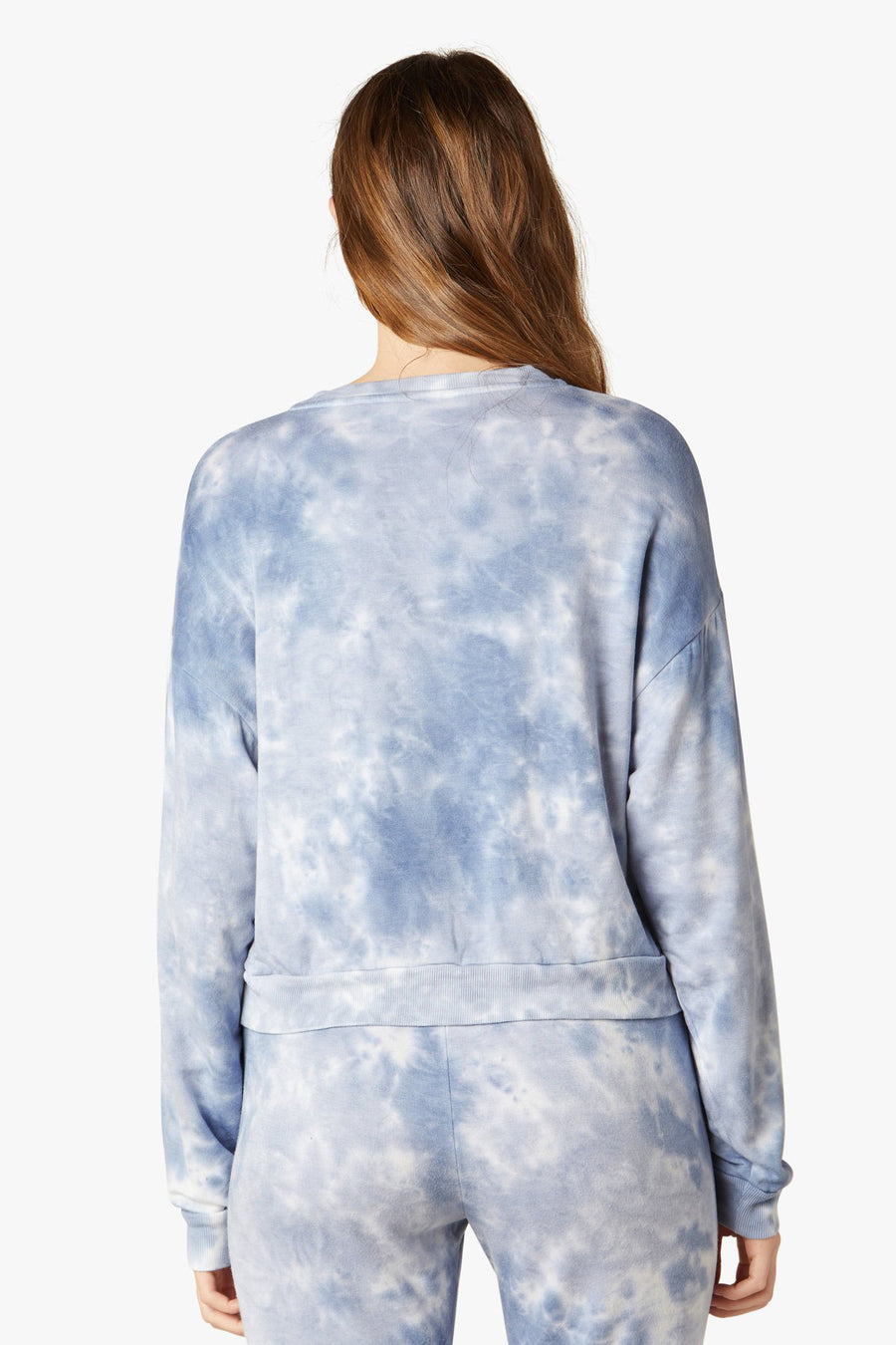 Day to Day Pullover - Blue Dream Gray Cloud Dye