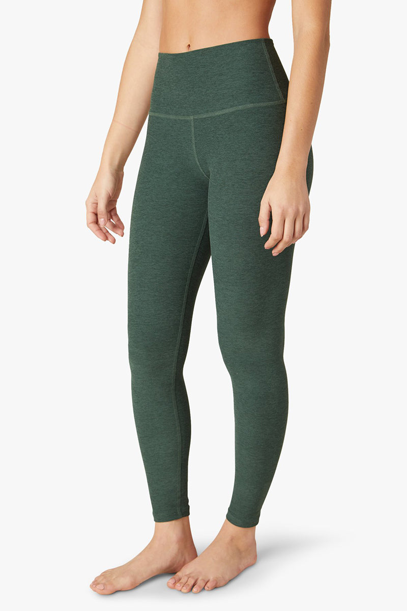 Spacedye Caught In The Midi High Waisted Legging - Green Ivy