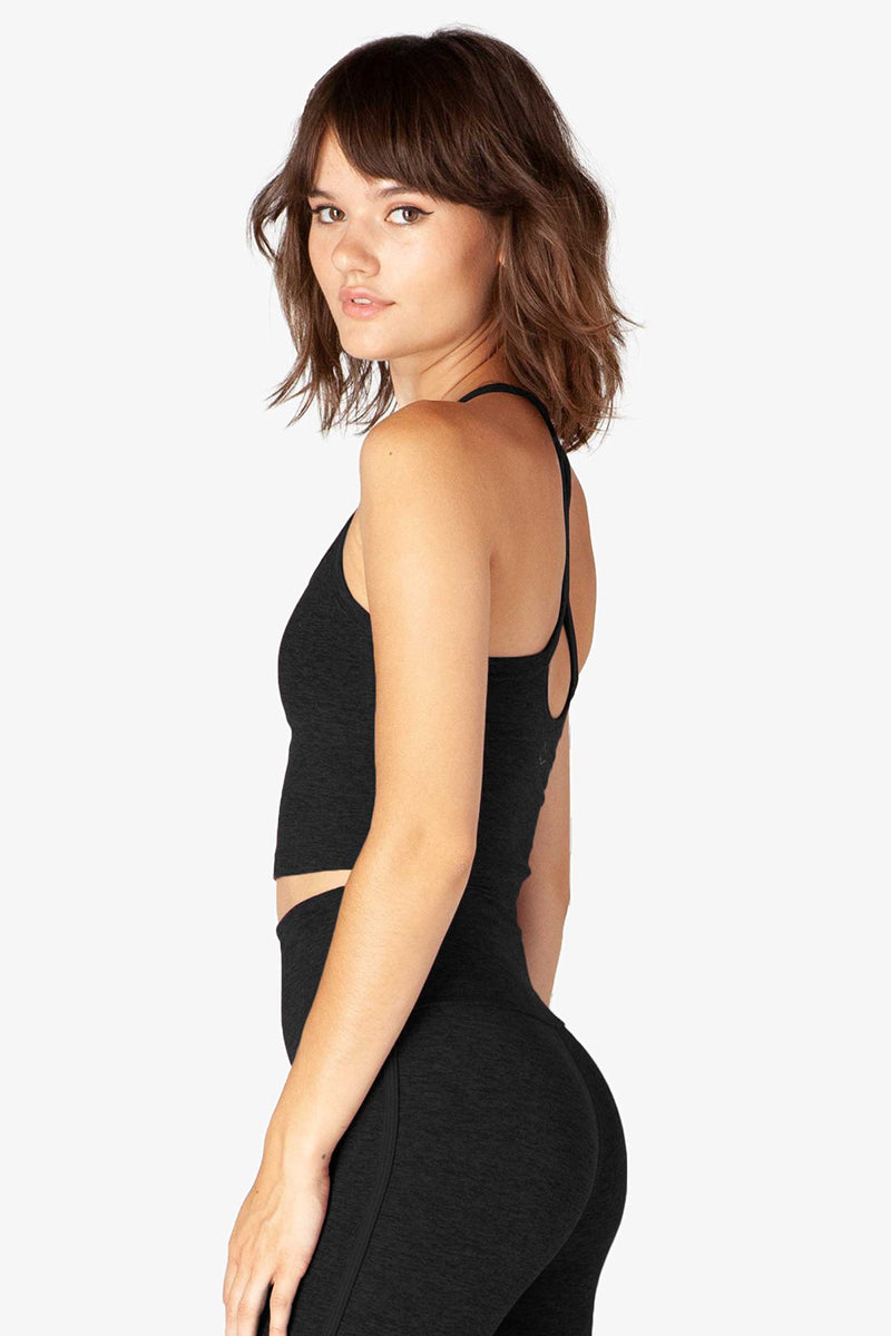 Spacedye Slim Racerback Cropped Tank - Darkest Night