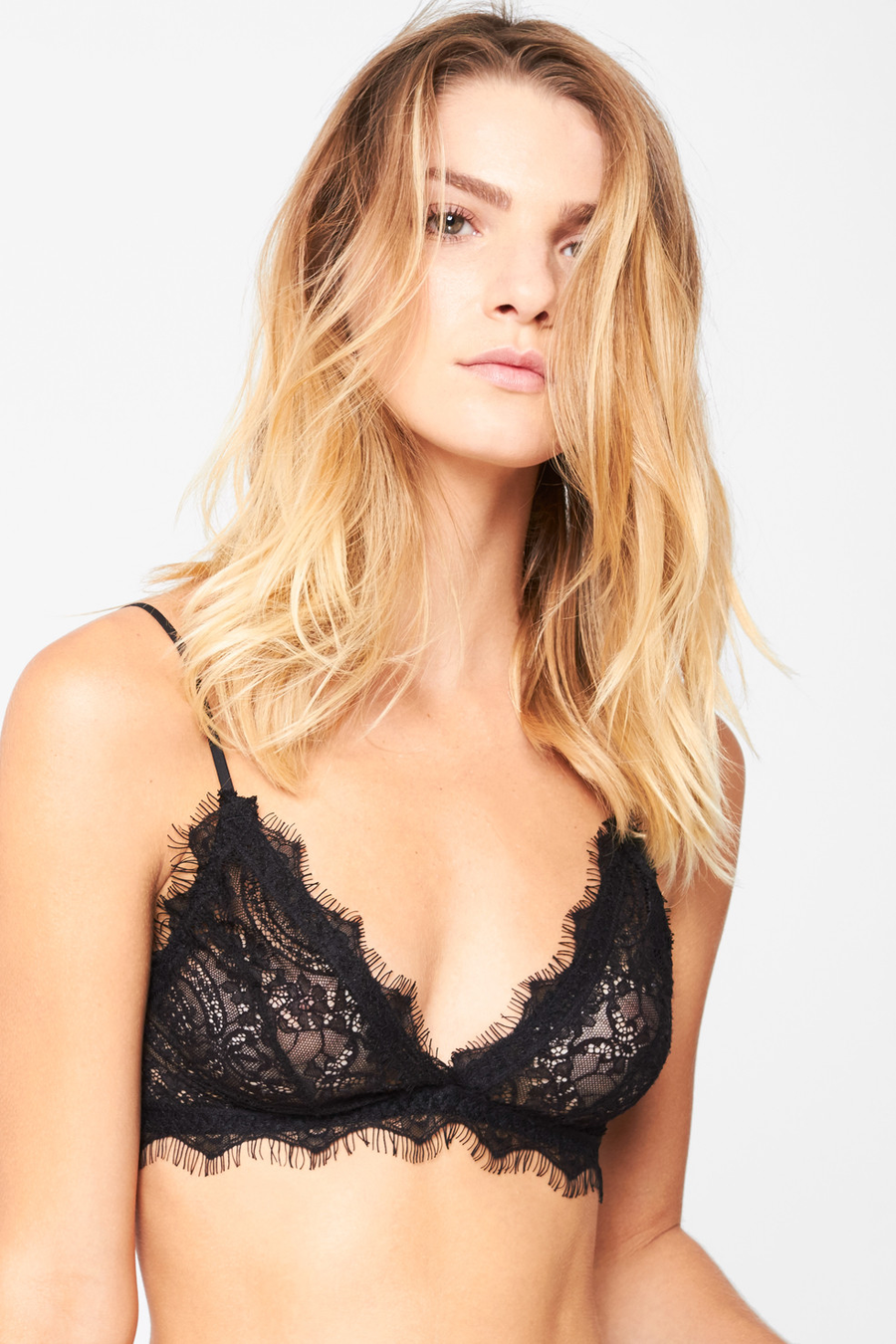 Lace Bra w/ Trim - Black - Pavilion