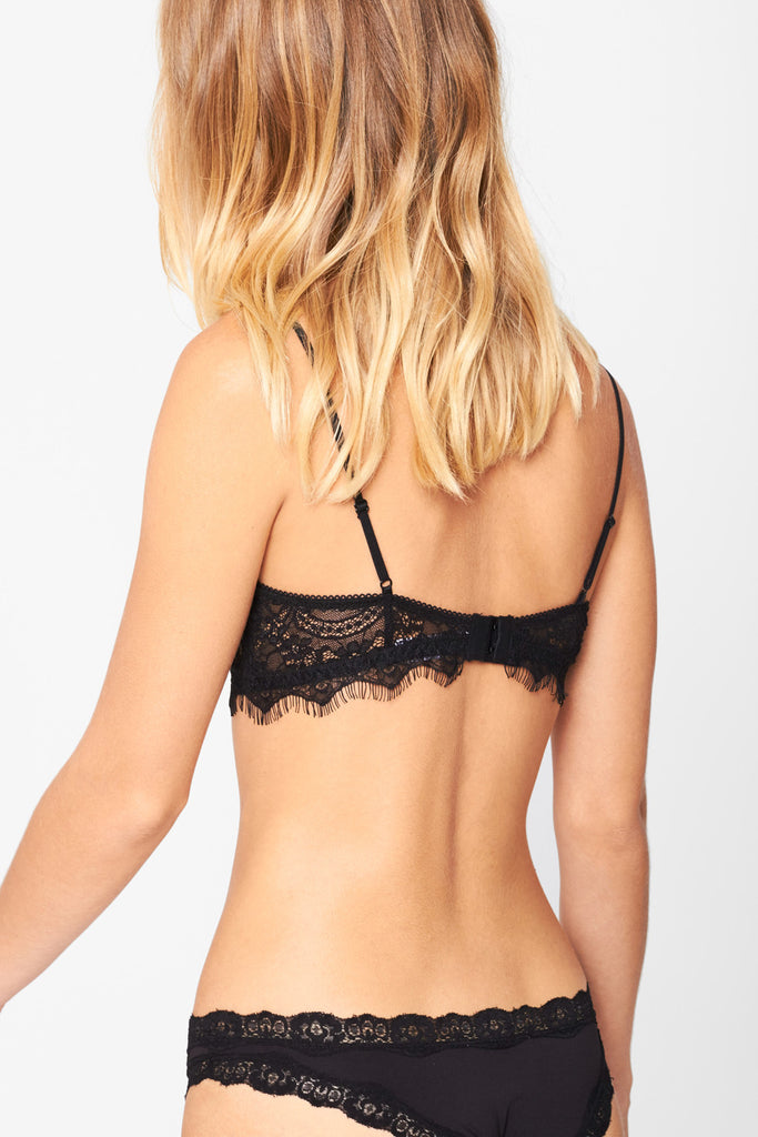 Black Eyelash Lace Bra - Pavilion