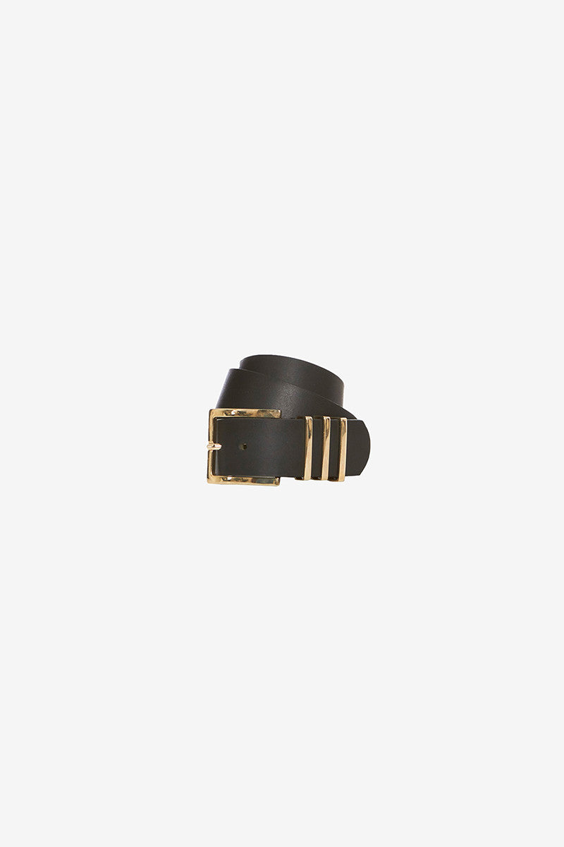 Black and Gold Wide Belt - Pavilion