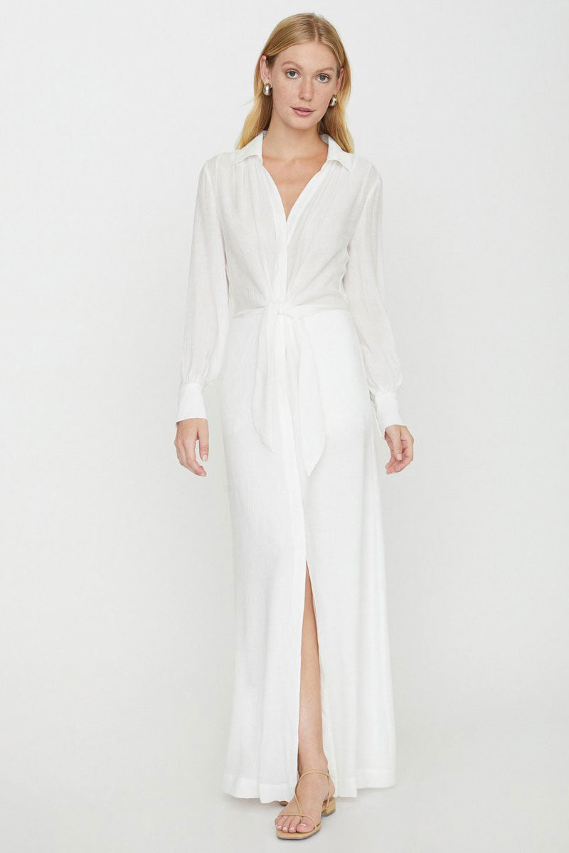 Madsen Maxi Dress - Salt White - Pavilion