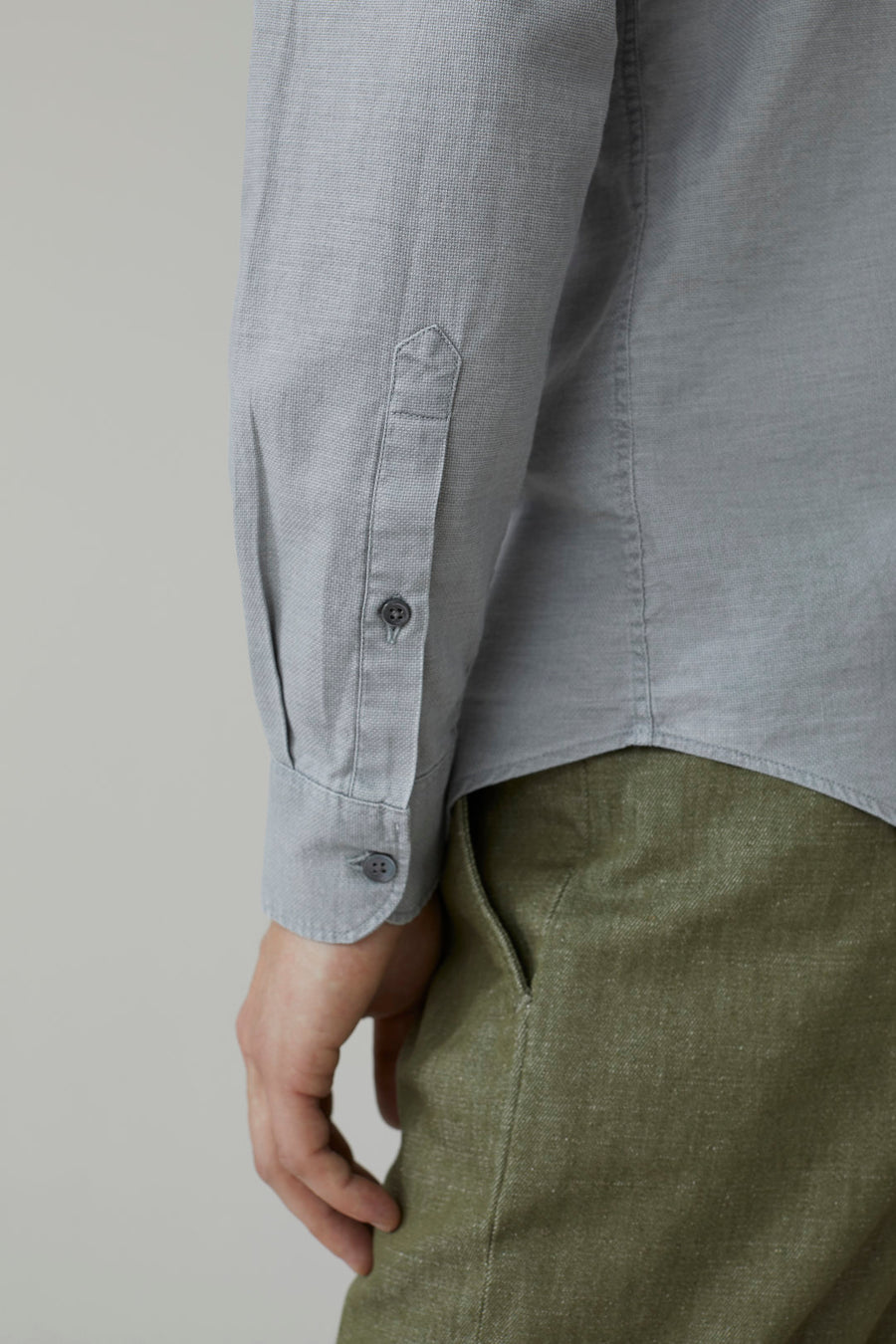 Cotton Piqué Shirt - Cloudy