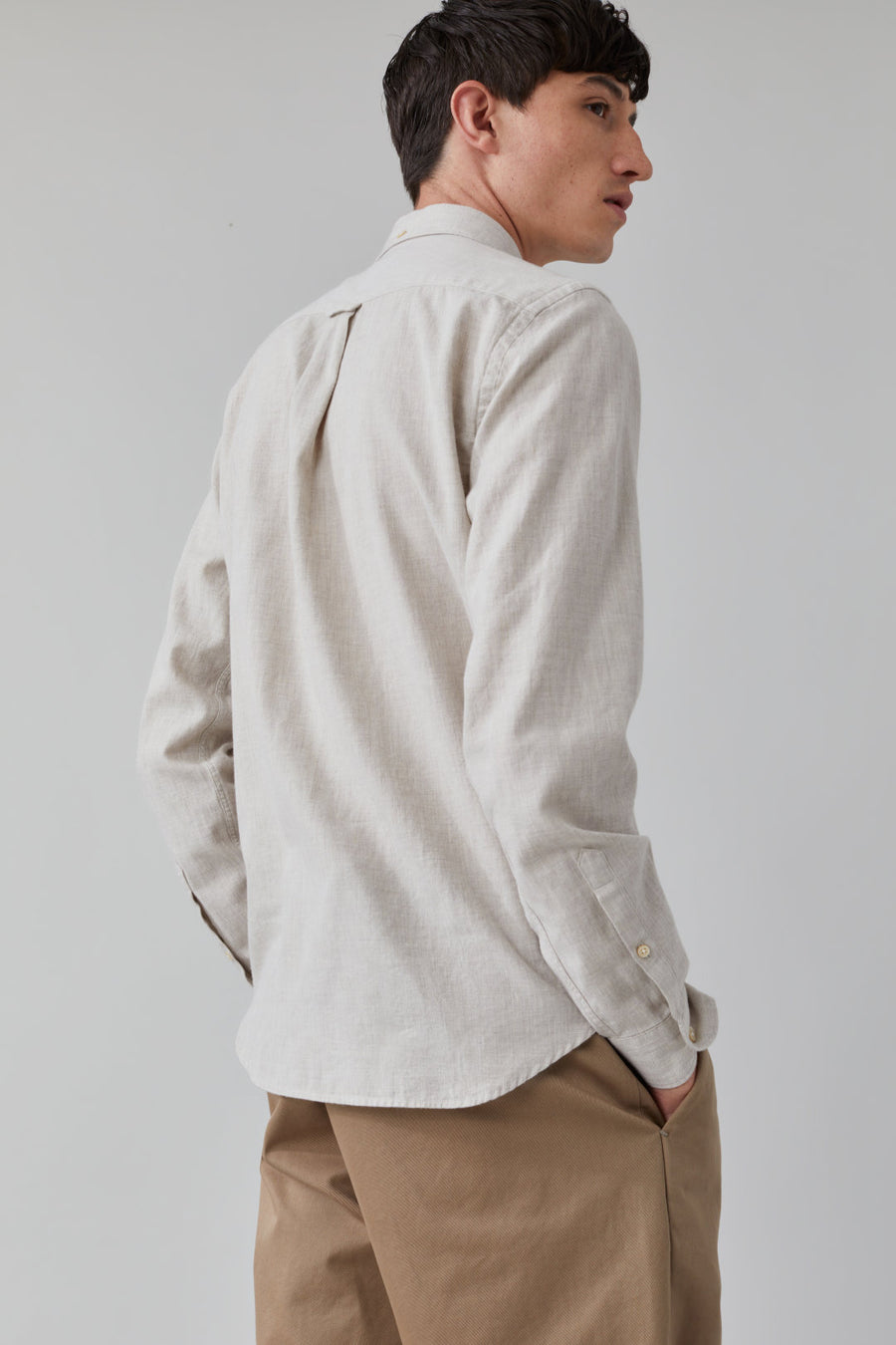 Button Down Twill Shirt - Grain Beige - Pavilion