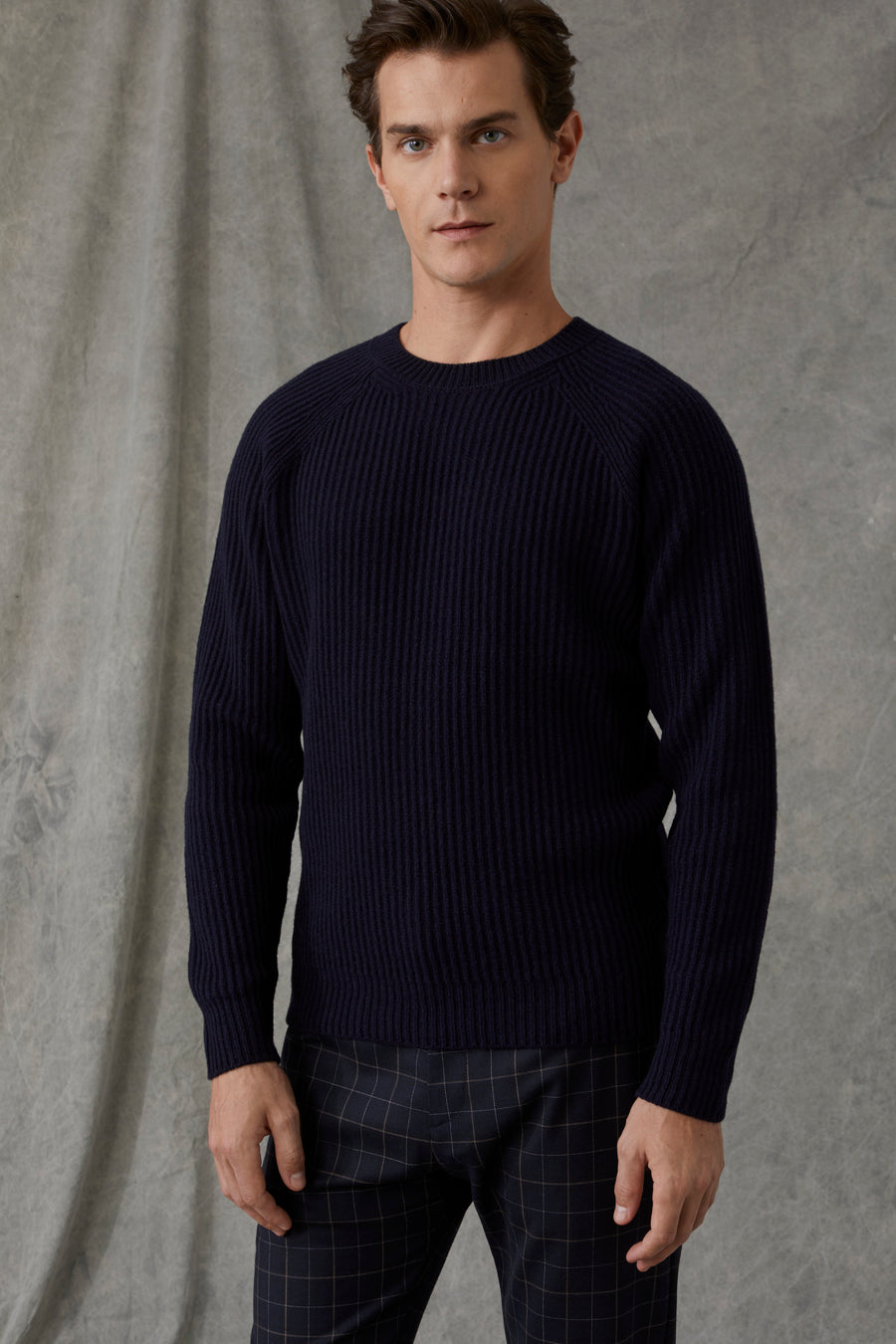 Raglan Wool Sweater - Dark Knight - Pavilion