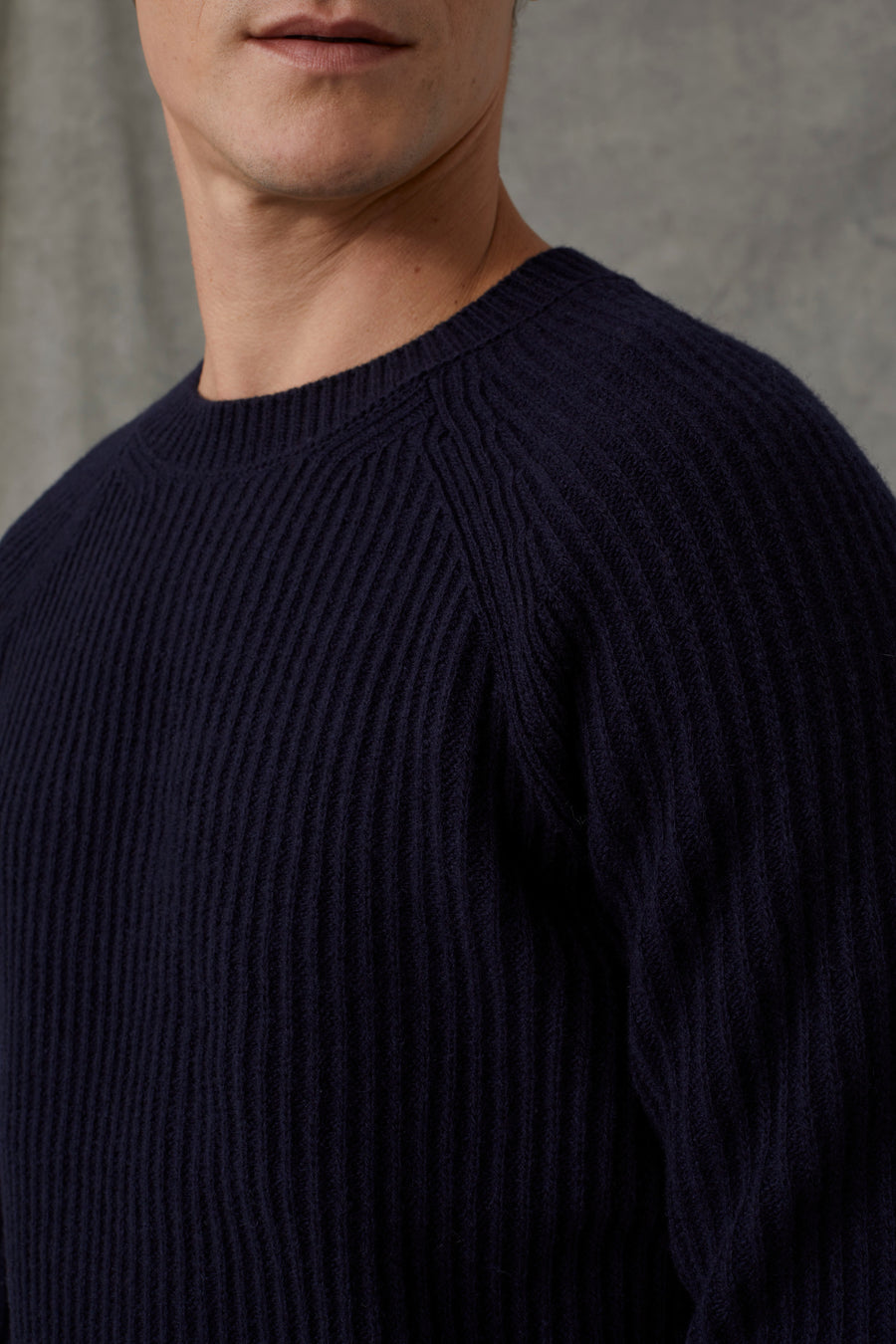 Raglan Wool Sweater - Dark Knight