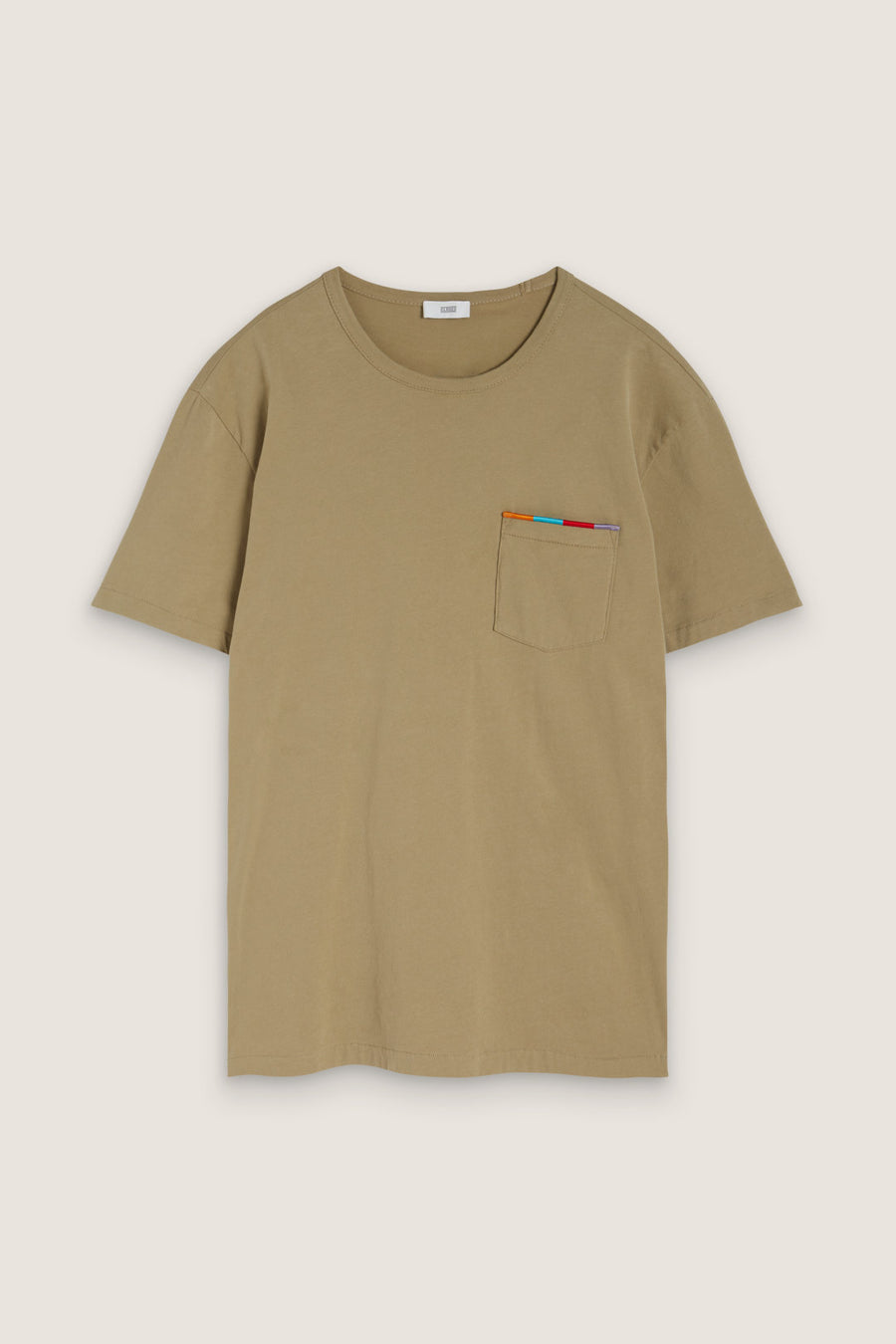 T-Shirt with Embroidery - Cut Hay - Pavilion