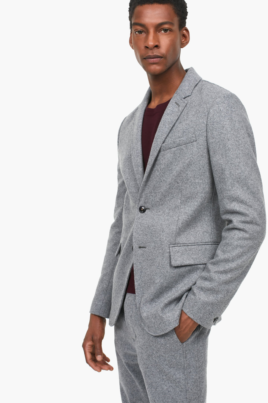 Virgin Wool Jersey Jacket - Pavilion