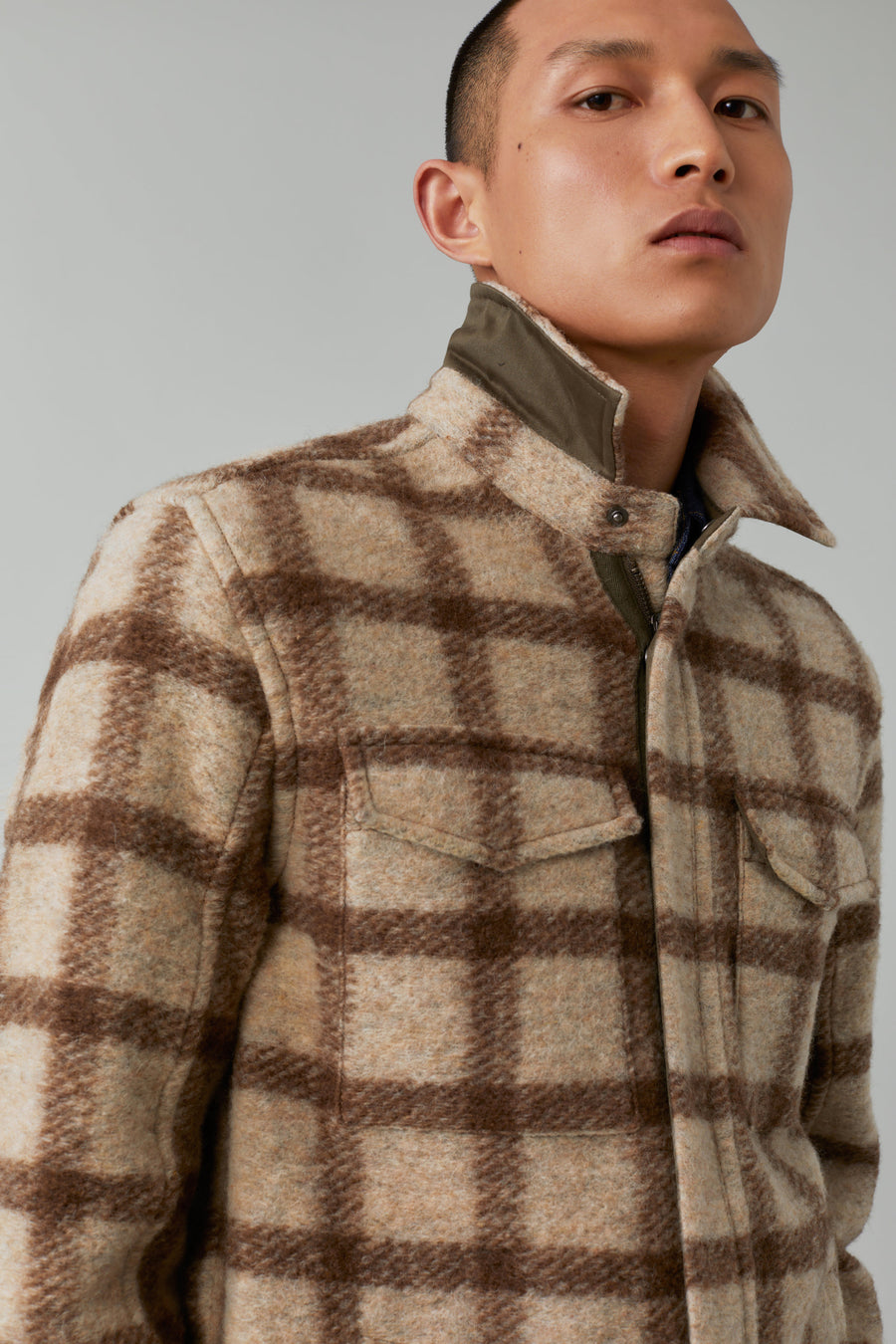 Zipped Overshirt - Grain Beige - Pavilion