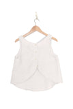 Button Back Tank - White - Pavilion