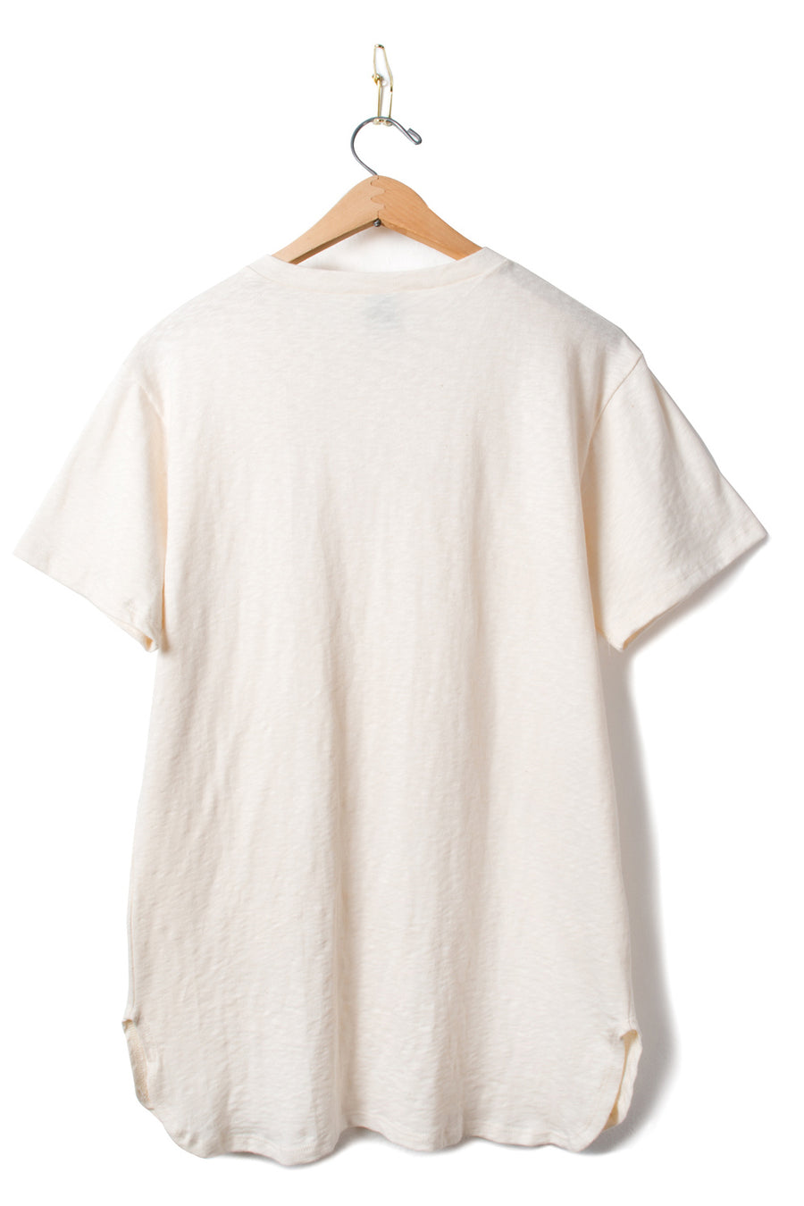 Organic Cotton Scoop Hem Tee - Ivory