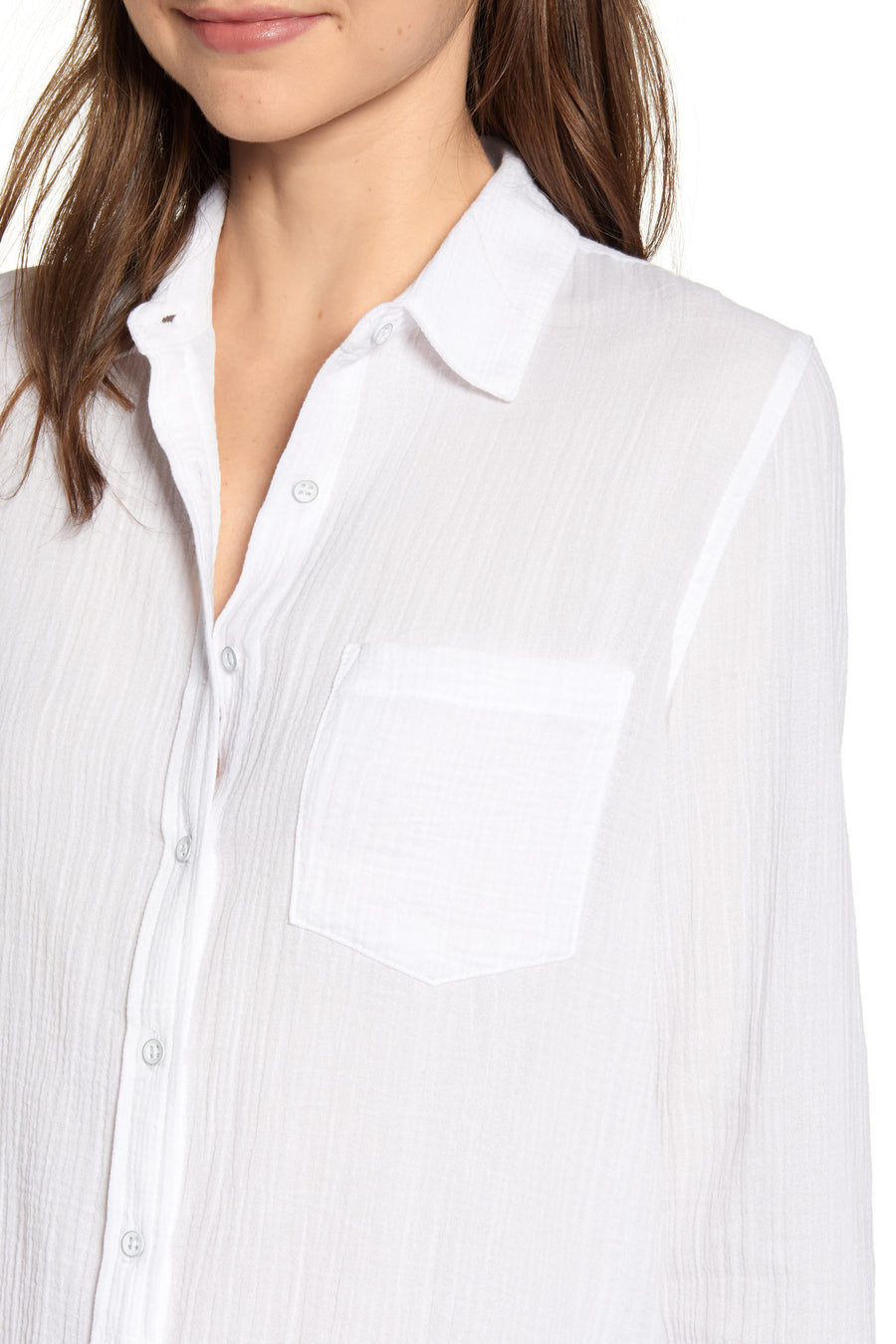 Mercer & Spring Shirt - Crinkled White - Pavilion