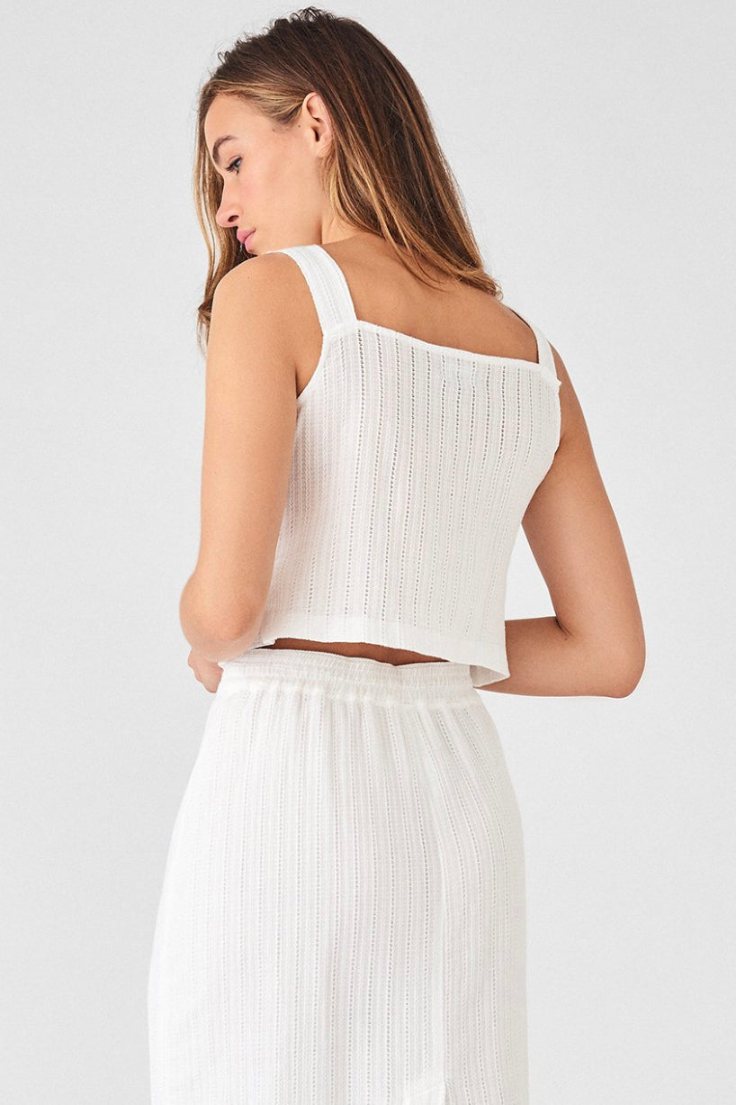 Park Place Top - White Eyelet