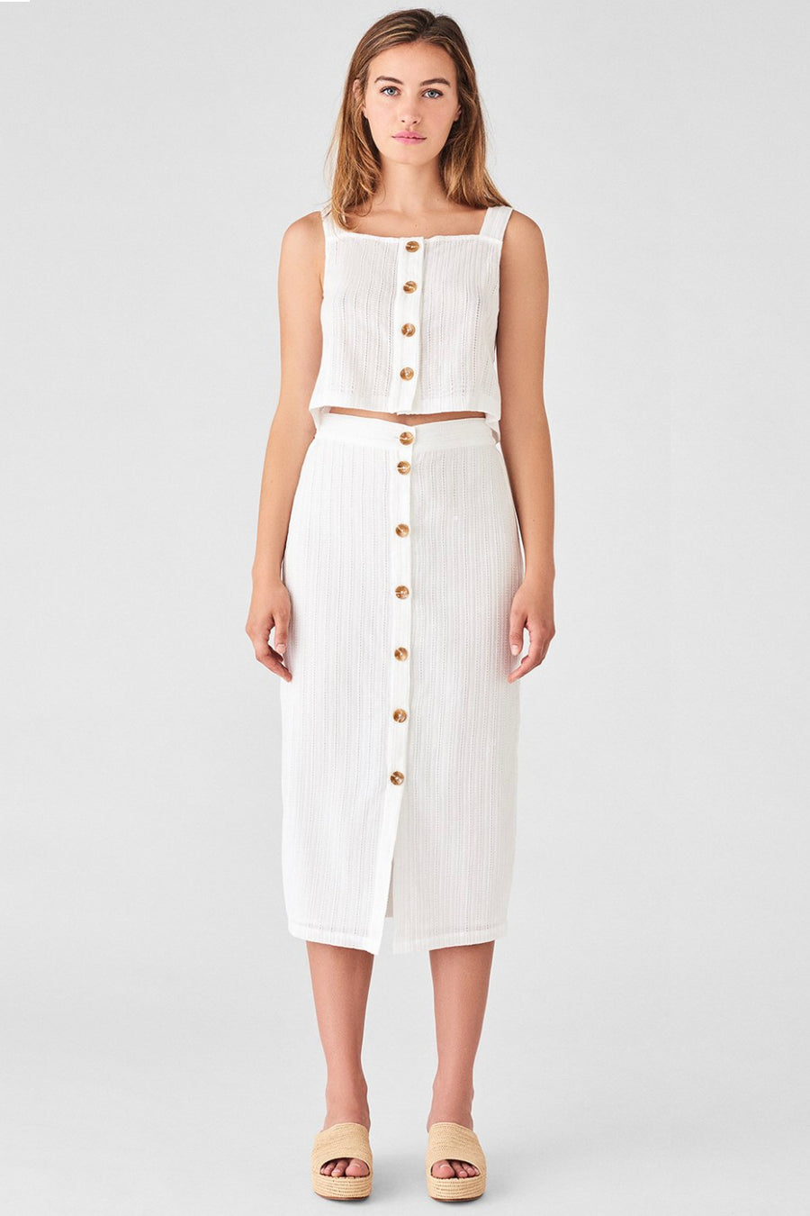 High Street Skirt - White Eyelet - Pavilion