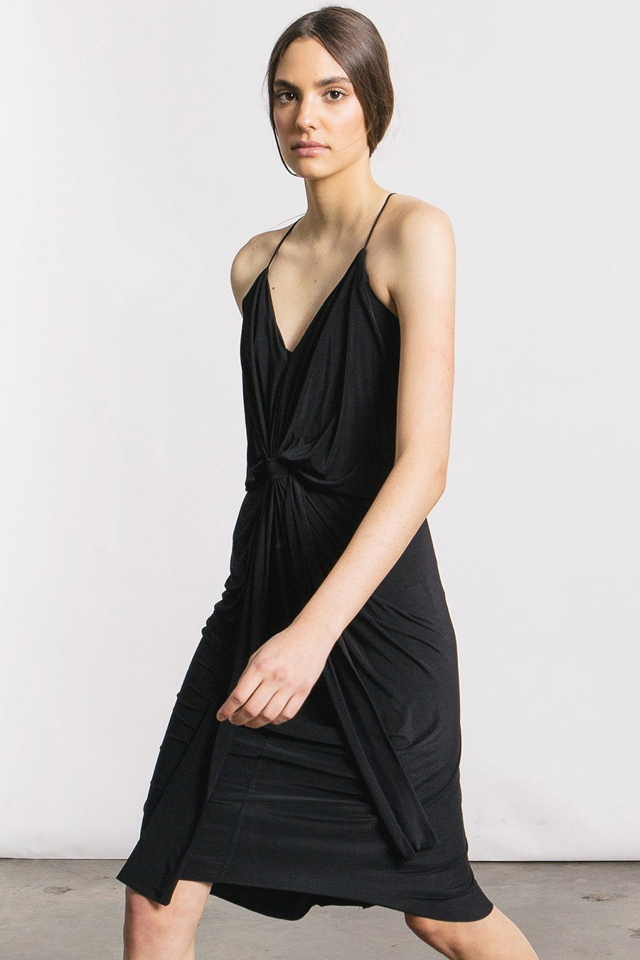 Domino Midi Dress - Black - Pavilion