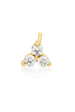 Diamond Trio Stud - Yellow Gold - Pavilion