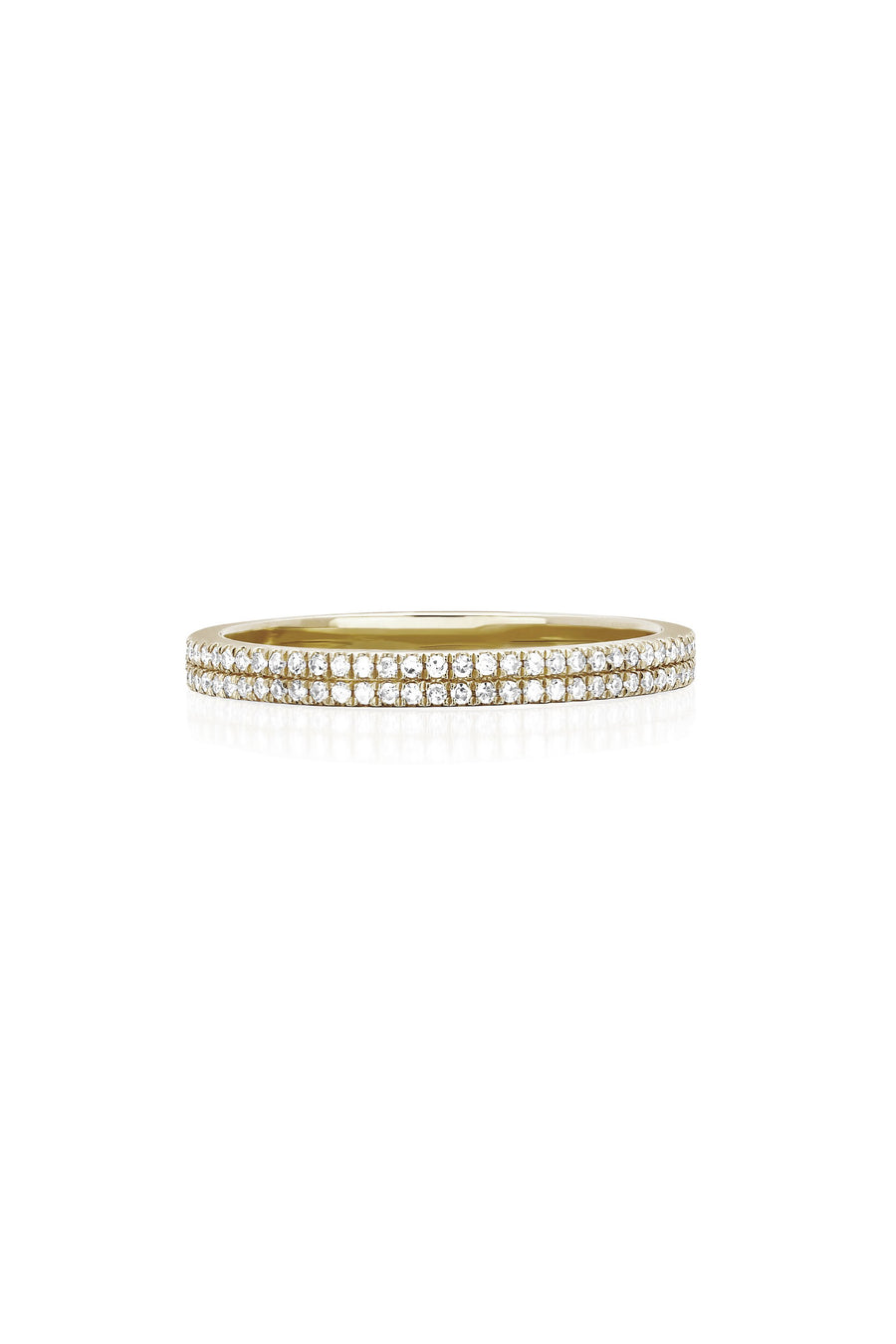 Double Diamond Eternity Band Ring - Pavilion