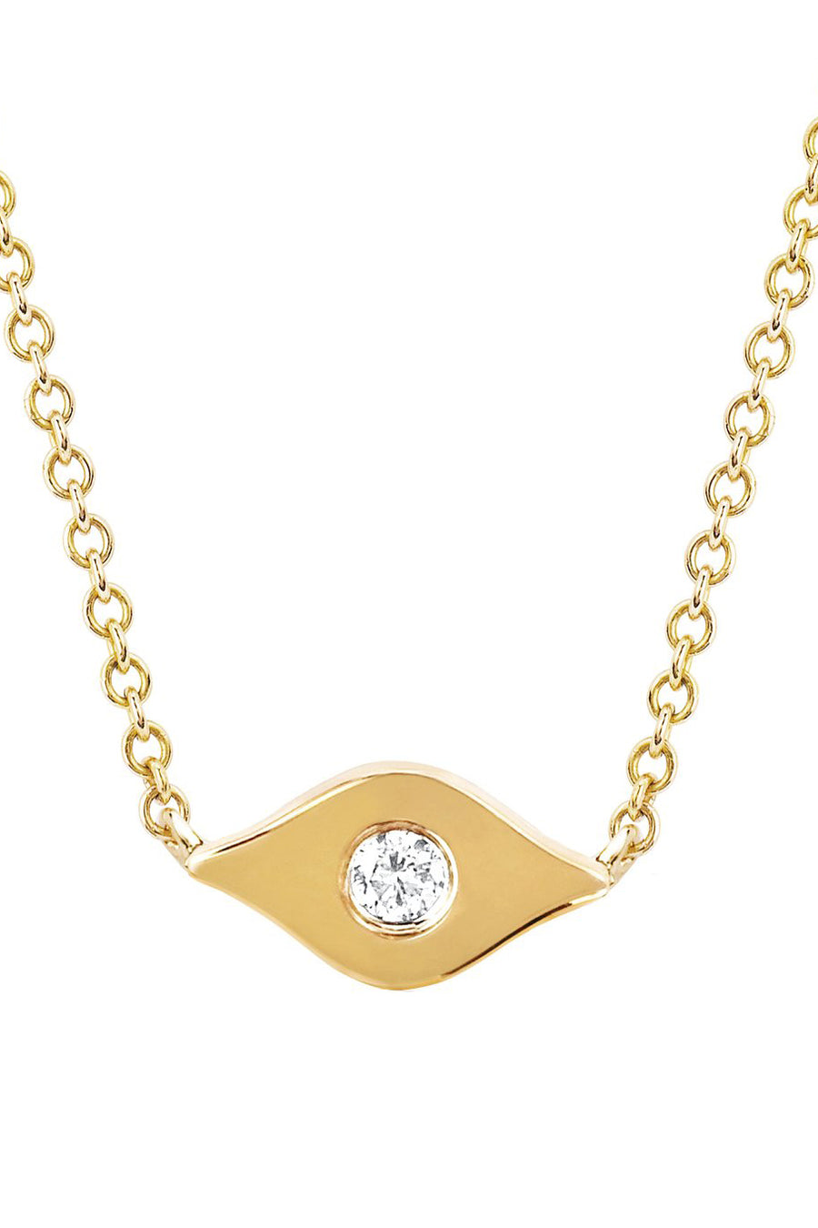 Gold & Diamond Evil Eye Necklace - Pavilion