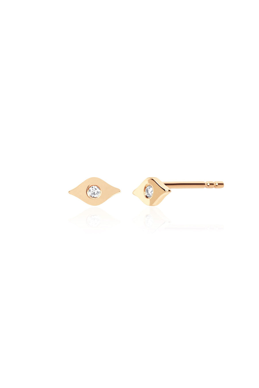 Gold & Diamond Evil Eye Stud Earring - Pavilion
